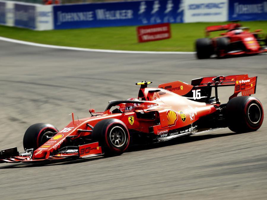 La Ferrari di Charles Leclerc (AP Photo/Francisco Seco)
