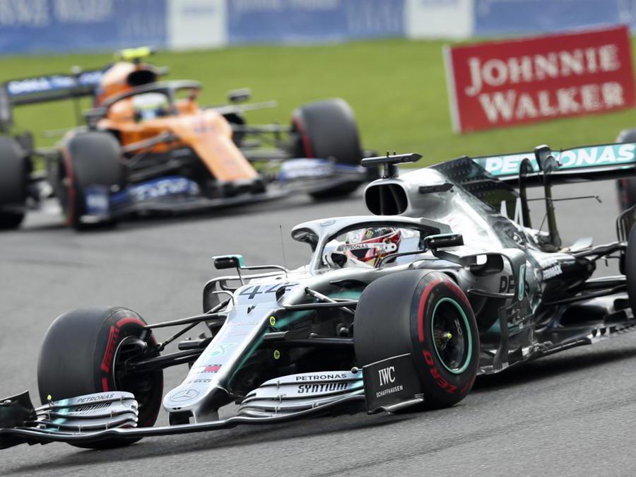 La Mercedes di  Lewis Hamilton (AP Photo/Francisco Seco)