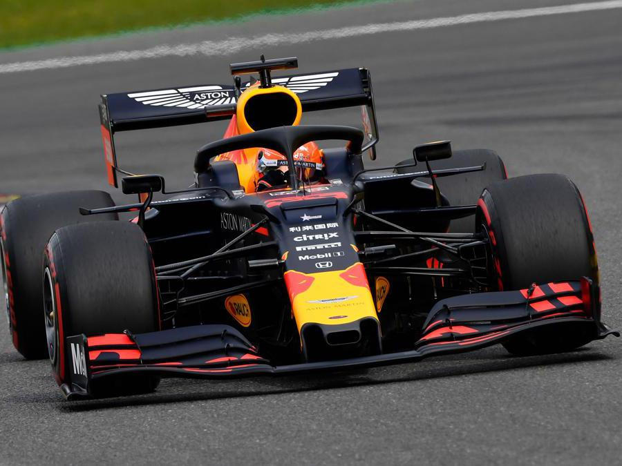 La Red Bull di Max Verstappen  (Photo by JOHN THYS / AFP)
