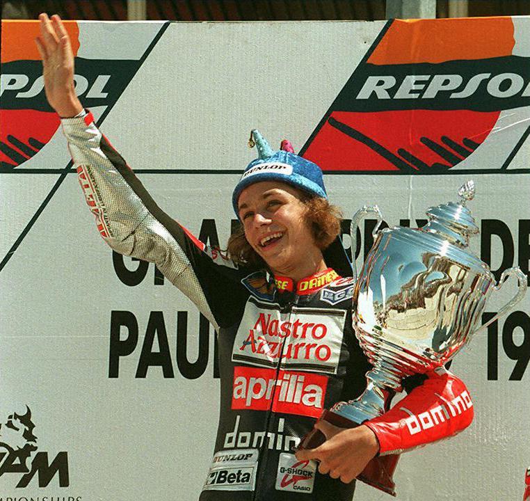Valentino Rossi nel 1997 vince nella 125 al Gp di Francia (Afp/Georges Gobet)