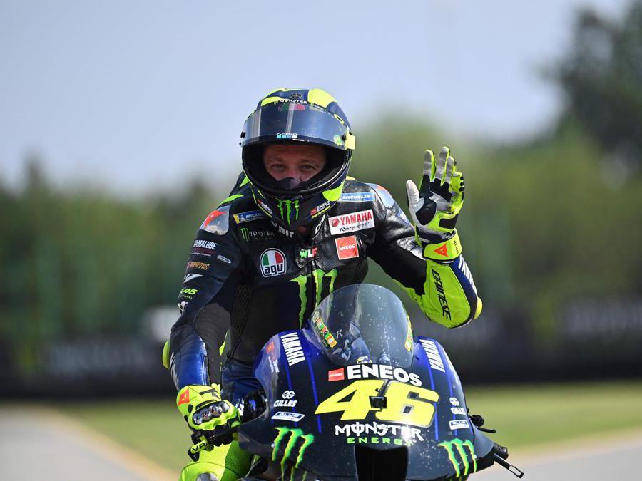 Valentino Rossi al Gp della Repubblica Ceca a Masaryck circuito di Brno  (Afp/Joe Klamar)