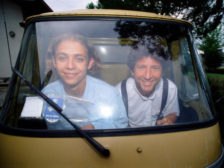 Valentino Rossi con il padre Graziano (Ipp/Paolo Bona)