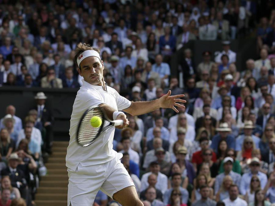 Lo svizzero Roger Federer . (Adrian Dennis/Pool Photo via AP)