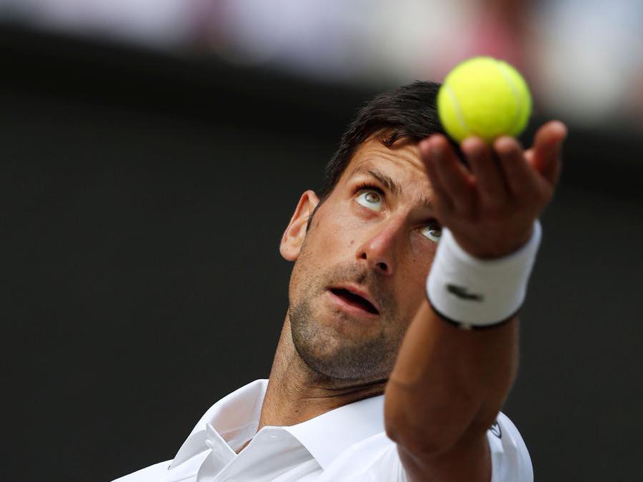 Il serbo Novak Djokovic. (Photo by Adrian DENNIS / POOL / AFP)