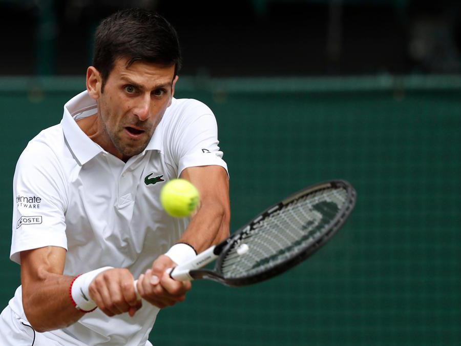Novak Djokovic. (Photo by Adrian DENNIS / POOL / AFP)