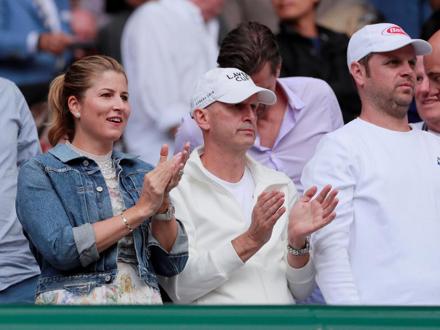 Mirka Federer.  REUTERS/Andrew Couldridge