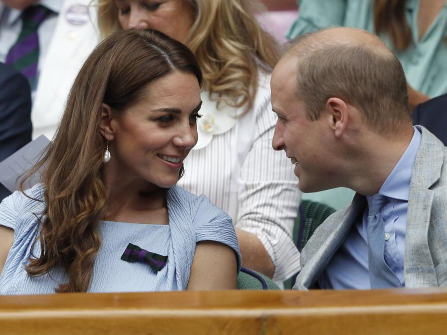 Kate e William alla finale di Wimbledon. (Adrian Dennis/Pool Photo via AP)
