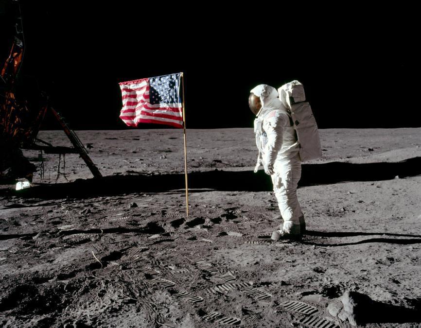 20 luglio 1969, Buzz Aldrin (Reuters)