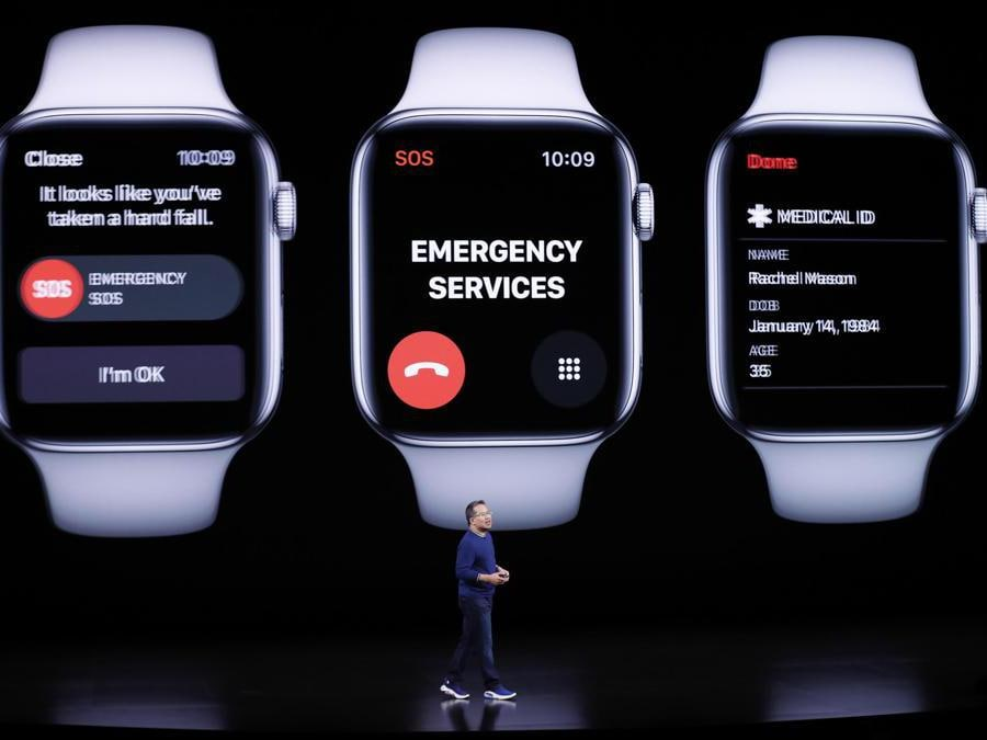 epa07833090 Apple Vice President Product Marketing, Apple Watch, Stan Ng speaks during the Apple Special Event in the Steve Jobs Theater at Apple Park in Cupertino, California, USA, 10 September 2019. EPA- EPA/JOHN G. MABANGLO