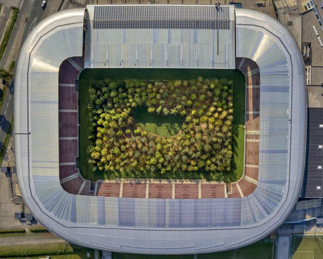 Metti una foresta nello stadio a Klagenfurt