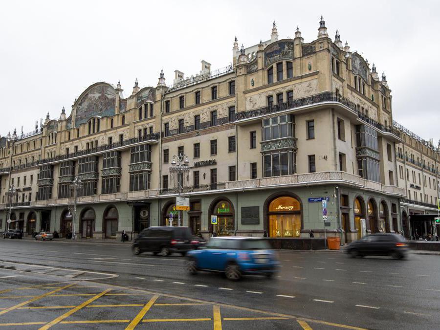 Il Metropol Hotel a Mosca. (AP Photo/Alexander Zemlianichenko)